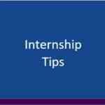 internship tips button