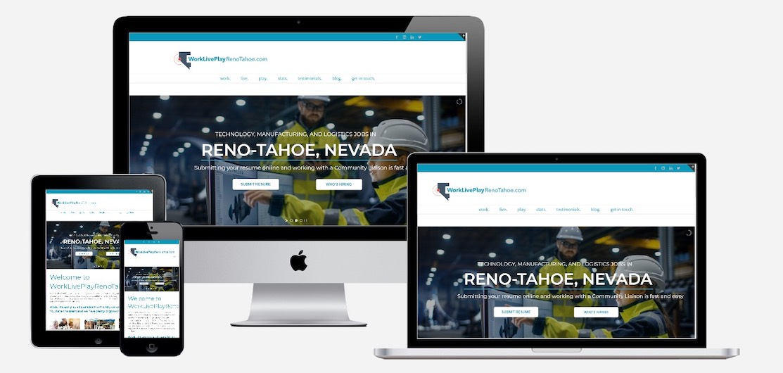 Work Live Play Reno Tahoe is a website that attracts top talent to Reno, Nevada