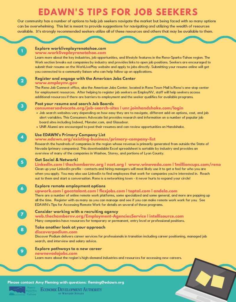 Tips for Job Seekers Print Out