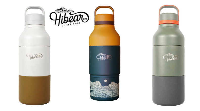 featured image showing three All-Day Flasks from Hibear